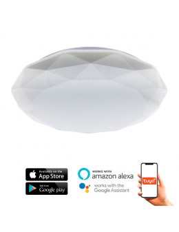 PLAFÓN BLUETOOTH APP 24W DIAMOND ALEXA/GOOGLE