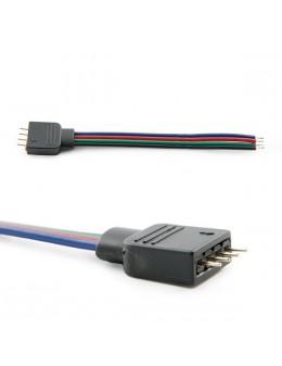 2 UDS. CONECTOR PIN MACHO TIRA LED RGB