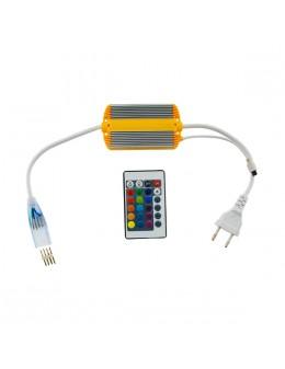 CONTROLADOR +MANDO RGB 16 BOTONES PARA NEÓN LED